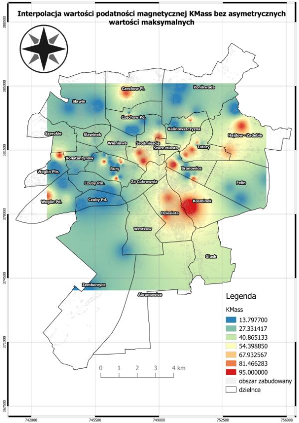 Analiza przestrzenna zanieczyszczenia powietrza metalami ciężkimi w Lublinie