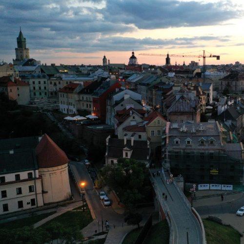 Lublin Stare miasto fotografia filmowanie dronem