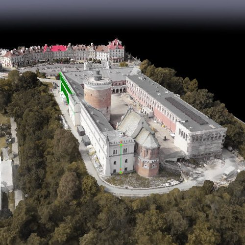 Model 3D inwentaryzacja Zamek Lubelski Muzeum Narodowe w Lublinie pomiary dronem